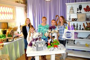 <p>From left, Madison Ghrist, Madison McNinch, Ainsley McNinch, Morgan Rogers and Emily Knight help promote Small Business Saturday at Joviality Gifts in Denton.</p>