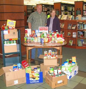 Library offers food for fines deal