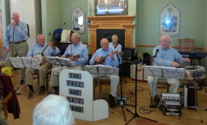 Free and Eazy Band plays at AARP meeting