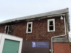 Fire damages Cambridge business