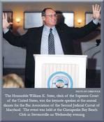 William K. Suter speaks at Bar Association dinner