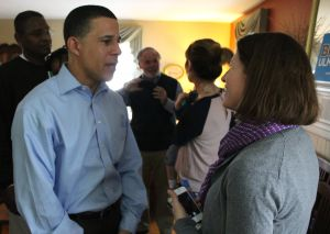 Brown and Ulman meet with Queen Anne's Democrats