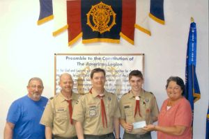 Post 70 supports Eagle Scout project