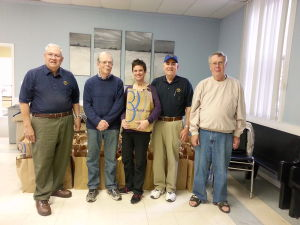 Easton Lions Club volunteers for Care Packs