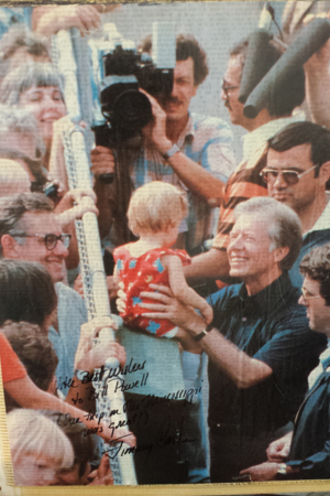 Bill Powell and President Jimmy Carter