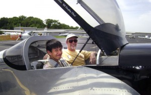 Taking off at Bay Bridge Airport