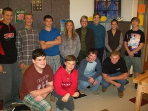 St. Michaels Middle/High School business class visits Talbot Bank
