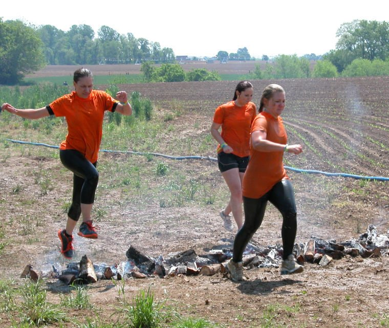 Competitors Up To The Savage Race Challenge Local
