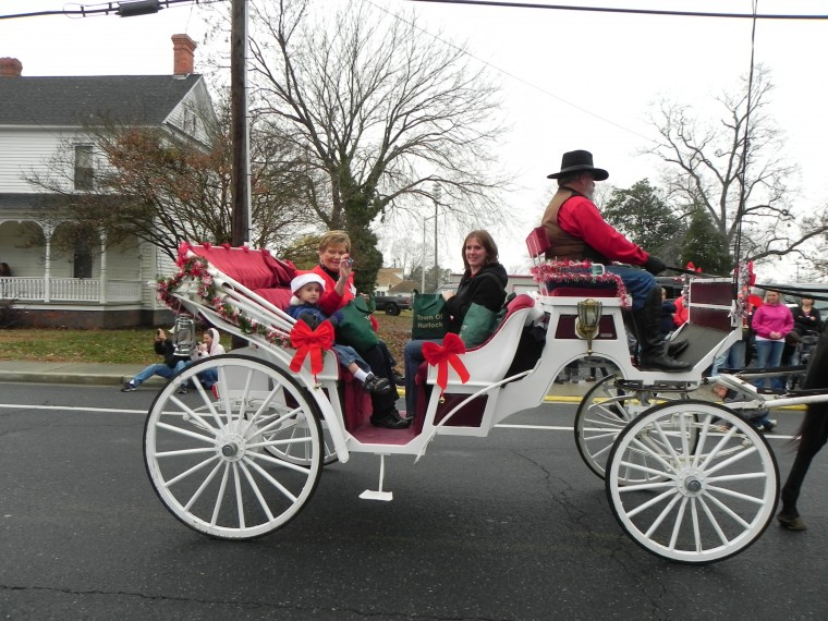 Hurlock Mayor in horse-drawn carriage