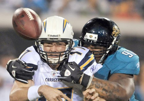 Rivers chargers gouge reeling jaguars 38 14 sports for 242 terrace ave riverside ri