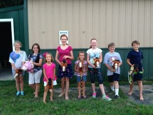 Talbot County 4-H Saddle and Paws Club hosts stick horse race