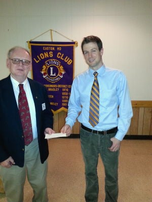 Lions club gives donation  to St. Michaels freshmen