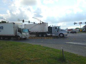 Spilled fruit snarls traffic on Route 50 in Easton