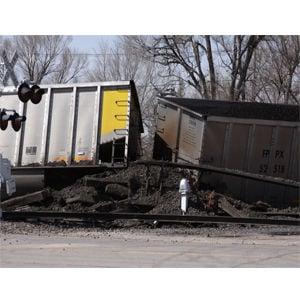 Train derails in Bridgeport