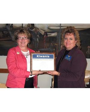 Librarian receives Kiwanis honor