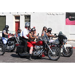 Bikers don dresses for good cause