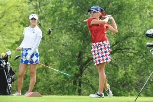 <p>Senior captain Julie Houston will look to win her second consecutive state championship in Georgetown at the UIL State golf tournament on Monday and Tuesday.</p>
