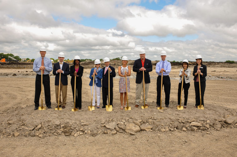 Ewing automotive breaks ground on new plano facilities for Mercedes benz of mckinney staff