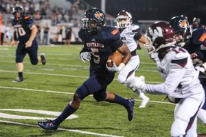 <p>Sachse wide receiver Devin Duvernay caught nine passes, including a 67-yard touchdown from Jalen Mayden, as the Mustangs rolled to a 37-24 victory over Wylie on Friday at Williams Stadium.</p>