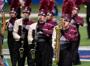 <p>Rowlett High School's Mighty Eagle Band performs during the preliminary round of the University Interscholastic League Texas State Band Competition in San Antonio.</p>
