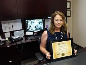 <p>Diane Baxter, director of communications and tourism with The Colony, receives her Certified Tourism Executive (CTE) designation.</p>