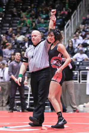 <p>Creekview wrestler Leah Olguin claimed a gold medal last weekend at the Class 5A State Championships in Garland.</p>