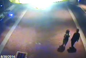 <p>Grainy surveillance footage captures the last known image of Christina Morris, who disappeared Aug. 30, 2014 after a night out with friends in Plano.</p>