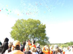 <p>Residents gather each year for a walk hosted by the organization Touched by Suicide. The event includes a balloon release, as well as speakers and a memory board that contains pictures of those who have been lost to suicide. </p>