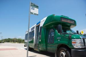 <p>Flower Mound is examining public transportation options and recently hosted a work session in which DCTA president Jim Cline spoke about the services it offers. Preliminary ideas to get Flower Mound involved include various bus lines to the existing rail system that runs through Lewisville.</p>
