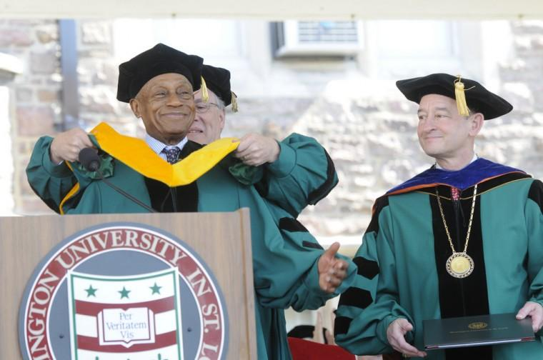Donald M. Suggs receives honorary Doctorate from Wash U