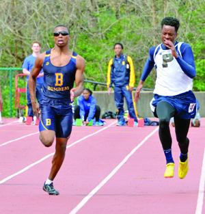 <p>Xavier Miller, of John Burroughs won the boys 100 meters Saturday with a time of 11.4 seconds at the Skipper Keeper Relays Saturday. Second was Charvon Lewis of Vashon at 11.5 and Corey Carter of Principia was third at 11.6. </p>