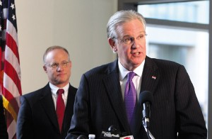 BJC President Steven Lipstein and Missouri Governor Jay Nixon