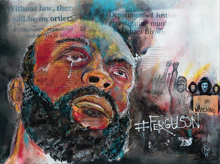 u2018american u2019 becomes canvas for ferguson