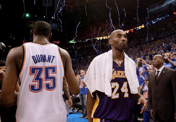 Kevin Durant and the Thunder leave Kobe's Lakers behind