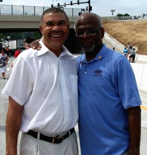 1st District Congressman Wm. Lacy Clay with his supporter County Executive Charlie A. Dooley