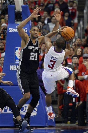 Tim Duncan and the Spurs put the smack down on Chris Paul's Clippers