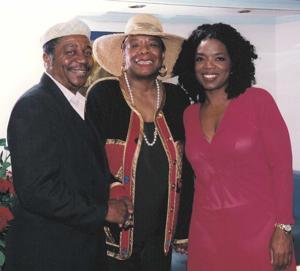 Eugene Redmond, Maya Angelou and Oprah Winfrey