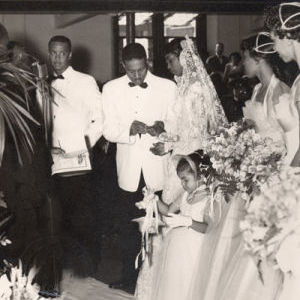 Dr. Leslie F. Bond Sr. and Anita Grace Lyons wed 58 years ago