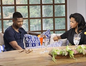 Usher and Oprah