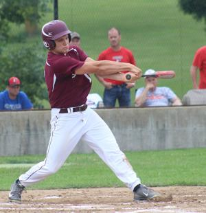 <p>Drew Peppers got things going in a win Wednesday at Coon Rapids-Bayard with a double and a run in the first inning. The Spartans beat the Crusaders on the road Tuesday after dropping a one-run loss to them on Monday.</p>