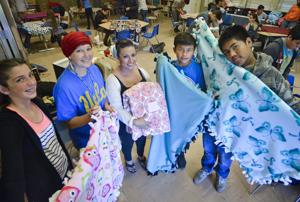 LVMS students honor teacher, make blankets for cancer patients