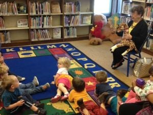 Local author reads to children
