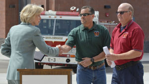 Capps promotes 'Federal Firefighter Fairness' bill at Hancock PSTC