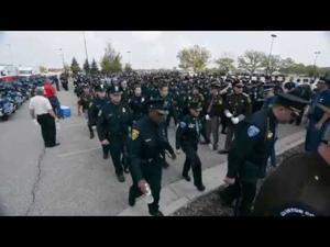 Tpr Chad Wolf honored by thousands; the public thanks police