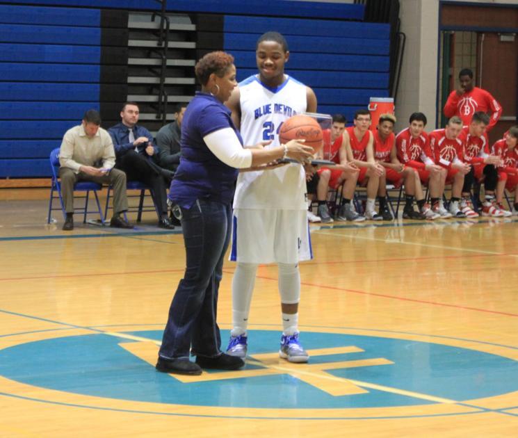 Miller Is Honored; Blue Devils Crush Bentley, 75-39