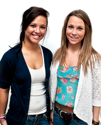 The FHS video project on bullying was created by FHS juniors Abby Barnard (left) and Kirsten Humitz.