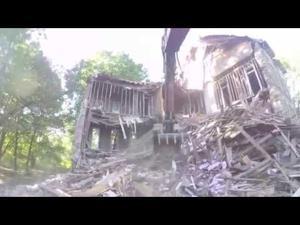 Fenton seminary demolition — wrecker's  eye view