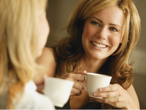 It's better to drink coffee or tea in a short sitting, than to drink it throughout the day.