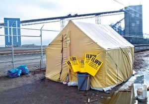 ILWU Tent at Longview by Roger Werth