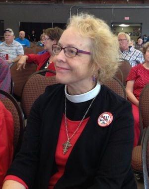 Pastor Kathleen Patton opposes the Millennium coal terminal